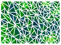 Hintergrund gemacht von den Dreiecken auf einem weißen Hintergrund Stockfotos
