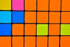 Hintergrund, gemalte Quadrate auf einer Tafel Stockfotografie