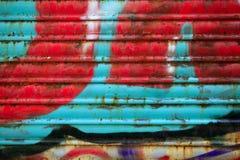 Hintergrund gemaltes Metall macht Beschaffenheit blind Stockfotografie