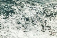 Hintergrund geschossen von der AquaMeerwasseroberfläche Lizenzfreies Stockfoto