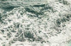 Hintergrund geschossen von der AquaMeerwasseroberfläche Lizenzfreie Stockfotografie