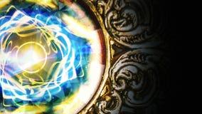 Hintergrund, Goldrahmen mit Animation stock video