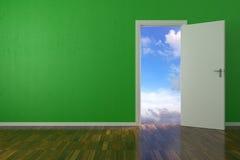Hintergrund-grüne Wand Lizenzfreies Stockbild