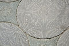 Hintergrund Gray Paving Slabs - Muster des Kreises lizenzfreie stockbilder