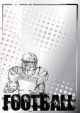Hintergrund grunge amerikanischer Fußball des Bleistifts Stockbild