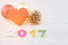 Hintergrund-guten Rutsch ins Neue Jahr 2017 Stockfotos