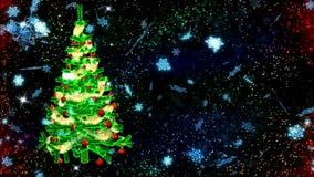 Hintergrund HD Loopable mit nettem Weihnachtsbaum stock video footage