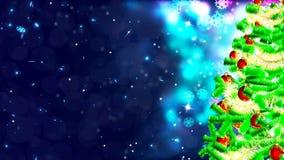 Hintergrund HD Loopable mit nettem Weihnachtsbaum lizenzfreie abbildung