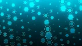 Hintergrund HD Loopable mit netter blauer Zusammenfassung stock video