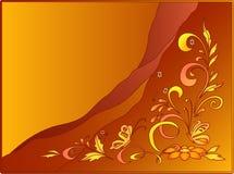 Hintergrund: heftig Basisrecheneinheiten und Blumen Lizenzfreies Stockfoto