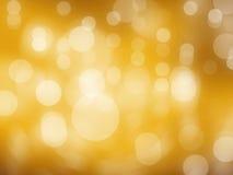 Hintergrund helles bokeh kreist wie ein gelber Ton ein Lizenzfreies Stockbild