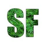 Hintergrund-hohe Qualität SF San Francisco Marijuana Logo With Clear lizenzfreie abbildung