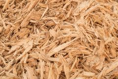 Hintergrund-Holzabfälle, Holzspäne stockfoto