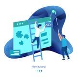 Hintergrund-Illustration Team Building lizenzfreie abbildung