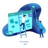 Hintergrund-Illustrationen von Team Building stock abbildung