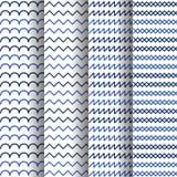 Hintergrund-Illustrationsdesign mit 4 geometrisches Mustern Lizenzfreie Stockfotos