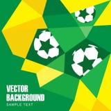 Hintergrund im brasilianischen Flaggen- und Fußballdesign Lizenzfreies Stockbild
