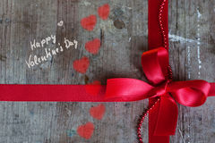 Hintergrund im Shabby-Chic-Stil für Valentinsgruß-Tag Stockfotografie