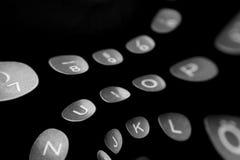 Hintergrund im Stil der strömenden Buchstaben Lizenzfreie Stockfotos