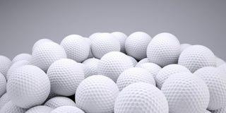 Hintergrund ist aus Golfbällen heraus Stockbild