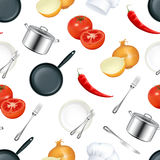 Hintergrund-Küche, nahtlos Lizenzfreie Stockbilder