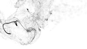Hintergrund 4k, Animation der komplexen Partikelsimulationsadvektion mit Turbulenzströmen, Rotation und Locke in zähflüssigem stock video