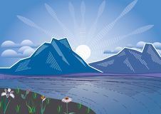 Hintergrund lanscape Berge und Fluss