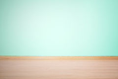 Hintergrund, leere Wand und Boden in einer blauen grünen Farbe Lizenzfreie Stockbilder