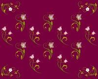 Hintergrund, lokalisierte Illustration mit Blumen stock abbildung