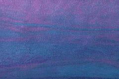 Hintergrund-Marineblau der abstrakten Kunst mit purpurroter Farbe Mehrfarbenmalerei auf Segeltuch stockbilder