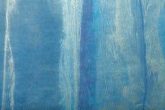 Hintergrund-Marineblau- und weißefarbe der abstrakten Kunst Mehrfarbenmalerei auf Segeltuch lizenzfreie stockfotografie
