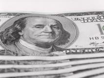 Hintergrund mit $100 Banknoten. Stockbilder