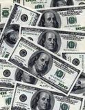 Hintergrund mit $100 Banknoten Lizenzfreie Stockfotos