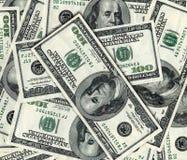 Hintergrund mit $100 Banknoten Lizenzfreie Stockbilder