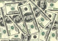 Hintergrund mit $100 Banknoten Lizenzfreies Stockbild
