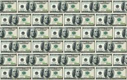Hintergrund mit 100 Dollarscheinen Lizenzfreie Stockbilder