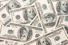 Hintergrund mit $100 Rechnungen Lizenzfreie Stockbilder