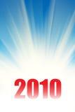 Hintergrund mit 2010 Strahlen Lizenzfreie Stockbilder