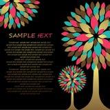 Hintergrund mit abstraktem grunge Baum. Lizenzfreie Stockbilder