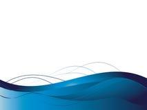 Hintergrund mit abstrakten glatten Zeilen stock abbildung