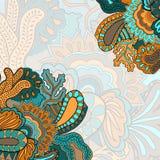 Hintergrund mit abstrakter Blumenverzierung Stockbilder