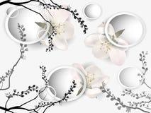 Hintergrund mit Apple-Blüten Stockbilder