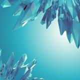 Hintergrund mit arktischen blauen Kristallformen 3d lizenzfreie abbildung