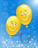Hintergrund mit Ballonen Stockfoto