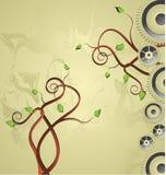 Hintergrund mit Baum und Vorrichtung. Lizenzfreies Stockbild