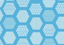 Hintergrund mit Beschaffenheiten in den hexagones Lizenzfreies Stockfoto