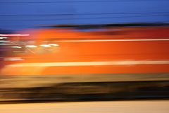 Hintergrund mit beweglichem Zug Lizenzfreie Stockfotos