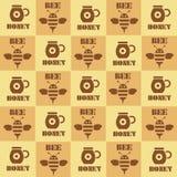 Hintergrund mit Bienen Stockfoto