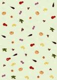 Hintergrund mit Bildern des Gemüses Stock Abbildung