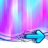 Hintergrund mit blauen Pfeilen Stockfotos